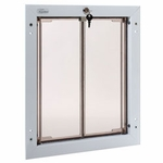 "shop SAVE 20%! -- ""Scratch & Dent"" WHITE Large Plexidor Wall Mount Dog Door"