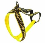 """shop SAVE 20%! -- """"Scratch & Dent"""" YELLOW Hurtta Padded Reflective Y-Harness for Dogs"""