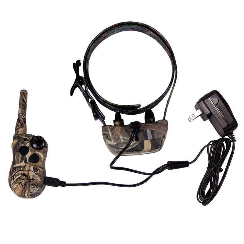 SD-425X Camo Transmitter and Collar on Charger