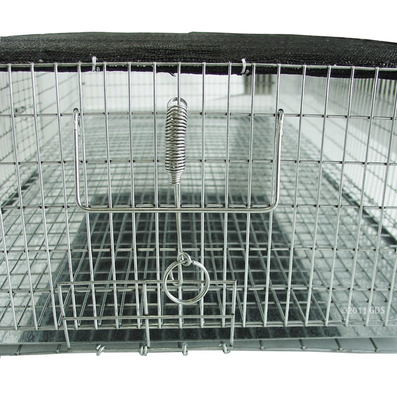 Shaded Quail Carrier Catch Tray Access and Handle