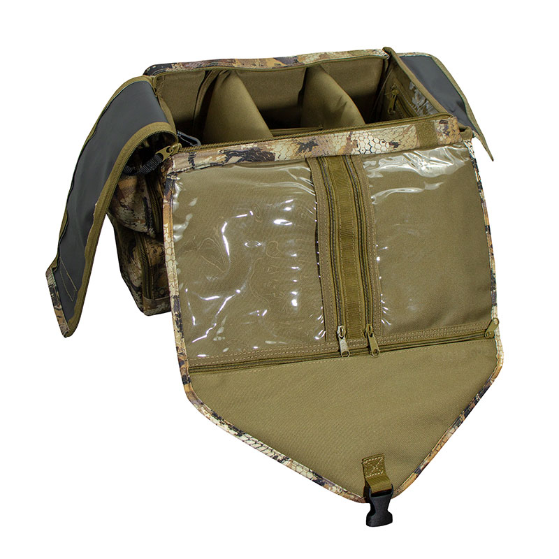 Shell Shocker XLT Optifade Blind and Gear Bag Open