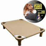 shop Small 30 in. x 22 in. Rectangle Premium Weave Dog Cot by 4Legs4Pets