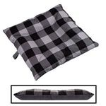SMALL Bizzy Beds® Dog Bed -- Buffalo Black / Gray Two-Tone