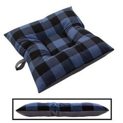shop BLOWOUT SALE -- SMALL Bizzy Beds® Dog Bed -- Buffalo Blue / Gray Two-Tone