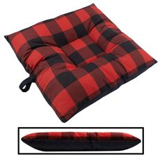 shop SMALL Bizzy Beds™ Dog Bed -- Buffalo Red / Black Two-Tone
