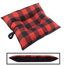 shop SMALL Bizzy Beds® Dog Bed -- Buffalo Red / Black Two-Tone