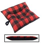 SMALL Bizzy Beds® Dog Bed -- Buffalo Red / Black Two-Tone