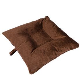 shop SMALL Bizzy Beds® Dog Bed with Zipper -- Brown