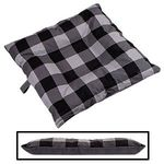 SMALL Bizzy Beds® Dog Bed with Zipper -- Buffalo Black / Gray Two-Tone