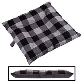 shop SMALL Bizzy Beds® Dog Bed with Zipper -- Buffalo Black / Gray Two-Tone