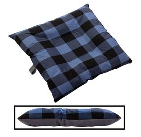 shop SMALL Bizzy Beds™ Dog Bed with Zipper -- Buffalo Blue / Gray Two-Tone