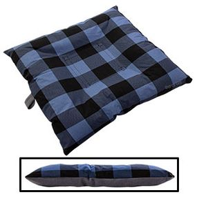 shop BLOWOUT SALE -- SMALL Bizzy Beds® Dog Bed with Zipper -- Buffalo Blue / Gray Two-Tone