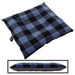 SMALL Bizzy Beds® Dog Bed with Zipper -- Buffalo Blue / Gray Two-Tone
