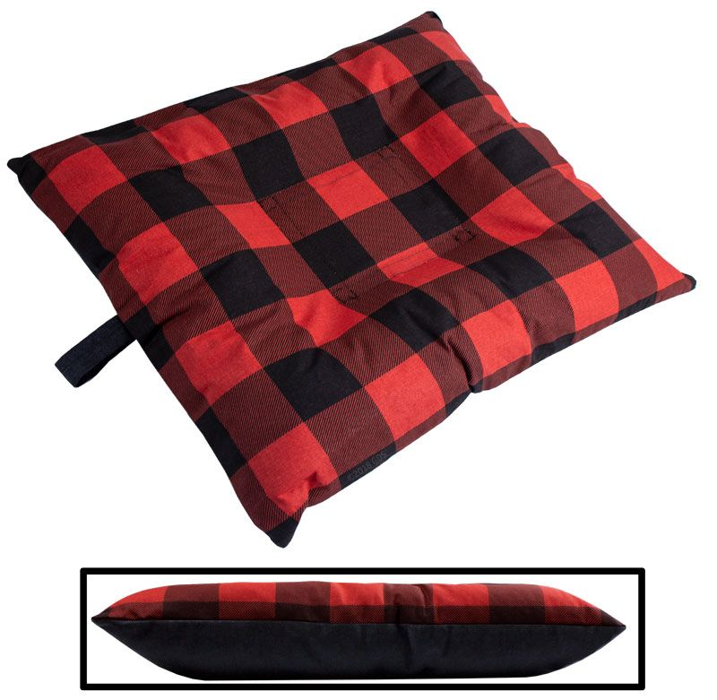 Small Bizzy Beds Dog Bed With Zipper Buffalo Red Black Two Tone 50 99