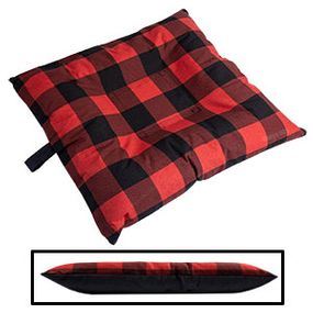 shop SMALL Bizzy Beds® Dog Bed with Zipper -- Buffalo Red / Black Two-Tone
