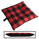 SMALL Bizzy Beds™ Dog Bed with Zipper -- Buffalo Red / Black Two-Tone