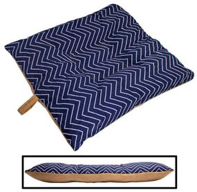shop SMALL Bizzy Beds™ Dog Bed with Zipper -- Chevron / Tan Two-Tone