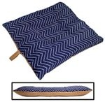 SMALL Bizzy Beds™ Dog Bed with Zipper -- Chevron / Tan Two-Tone