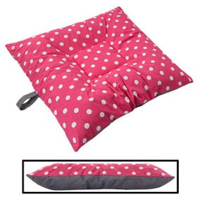 shop BLOWOUT SALE -- SMALL Bizzy Beds® Dog Bed with Zipper -- Pink Polka Dot / Gray Two-Tone