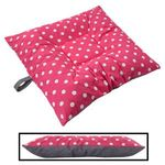 SMALL Bizzy Beds® Dog Bed with Zipper -- Pink Polka Dot / Gray Two-Tone