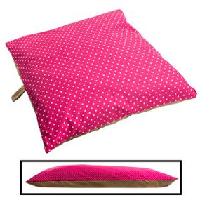 shop SMALL Bizzy Beds™ Pillow Bed -- Pink Polka Dot / Tan Two-Tone