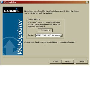 Garmin Update Software >> Software Changes Updating Your Astro 220 System