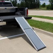 shop Telescoping Dog Ramp on the Back of a Truck