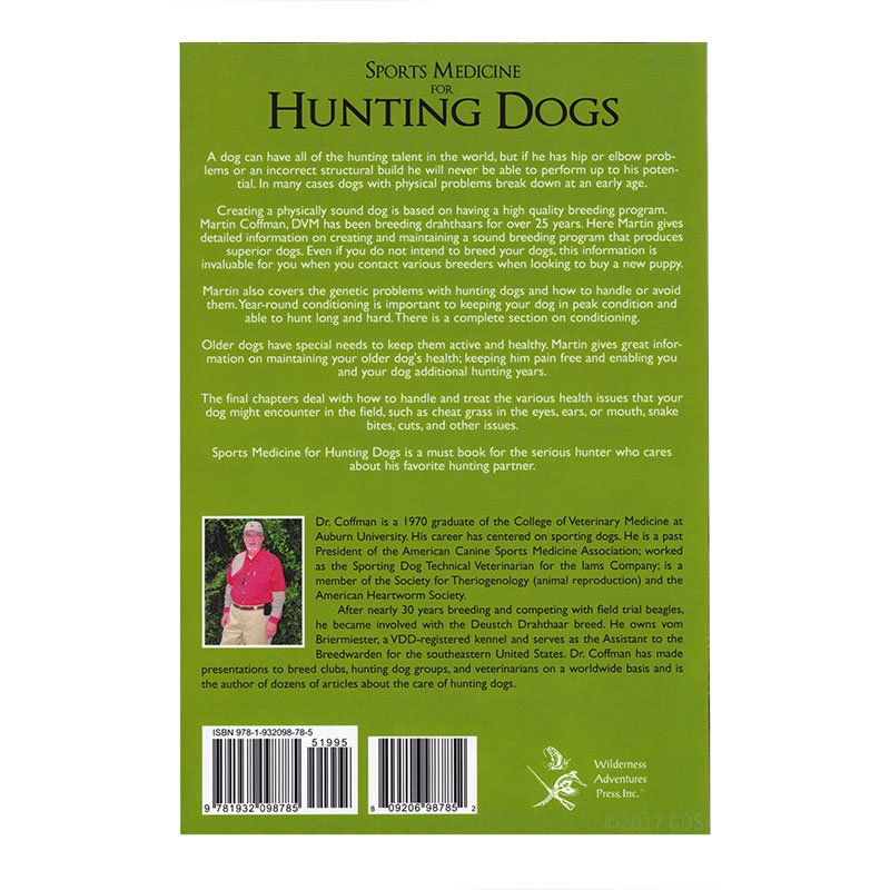 Sports Medicine for Hunting Dogs back cover