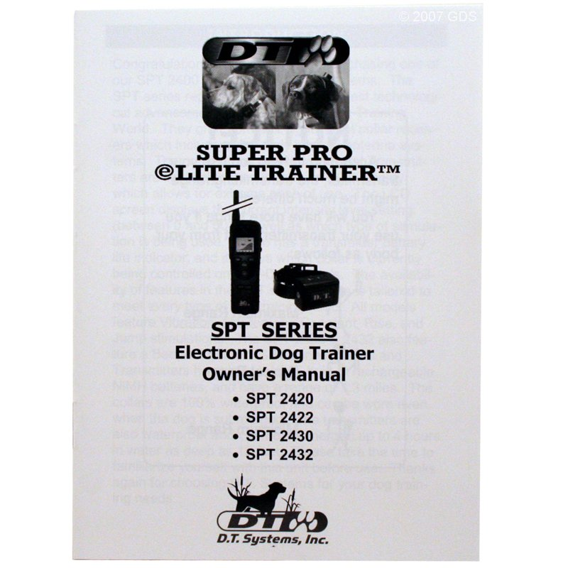 SPT-2420 Owners Manual