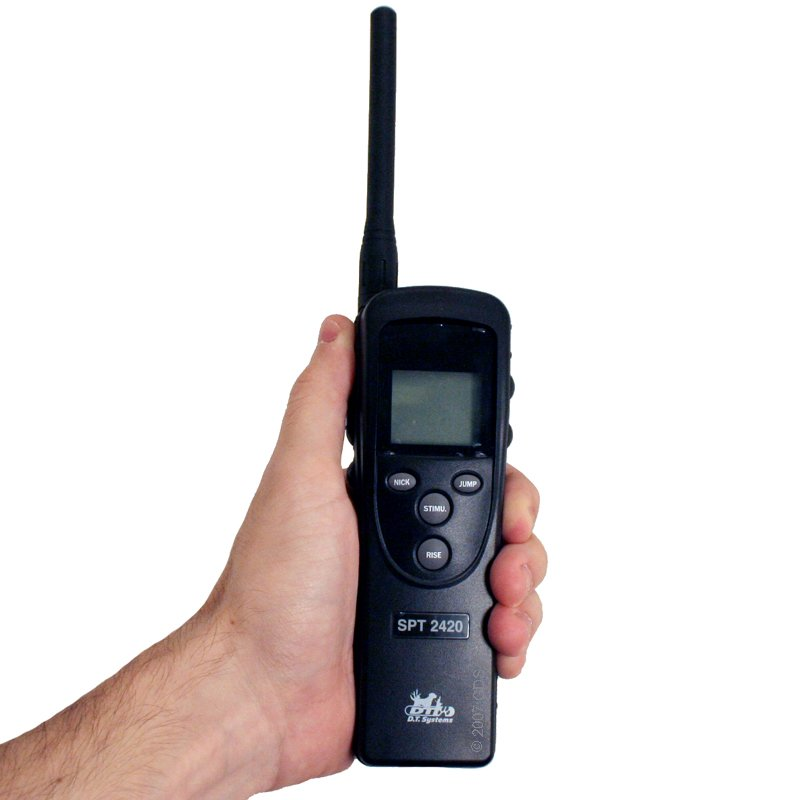 SPT-2420 Transmitter in Hand