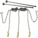 shop Stainless Steel Chain Gang 3-dog