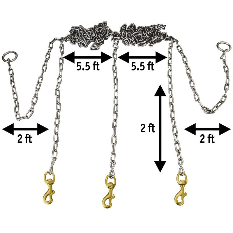 Stainless Steel Chain Gang Measurements