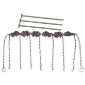 shop Stainless Steel Chain Gang 7-dog with Stakes