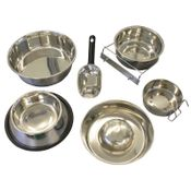 shop Steel Dog Food Bowls, Water Bowls, and Food Pans