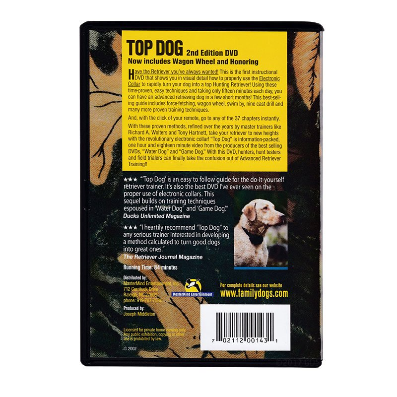 Top Dog DVD back