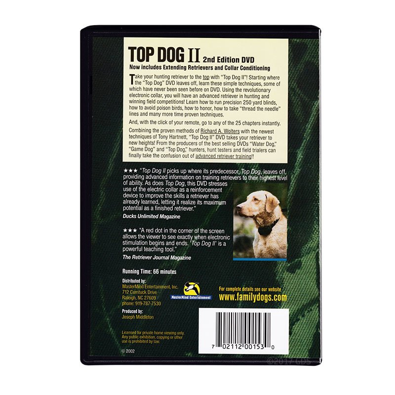 Top Dog II DVD back
