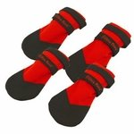 shop Rugged Dog Boots by Ultra Paws -- Set of 4 -- RED