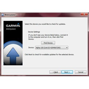 Garmin Update Software >> Updating The Software On Your Alpha 100 System