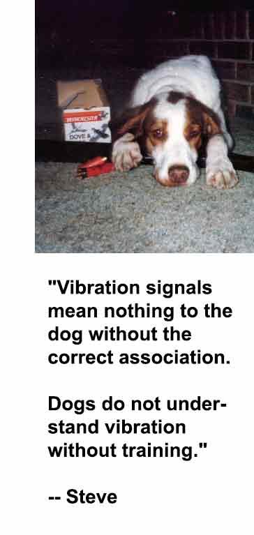 Guide Vibration Collars For Training Deaf Dogs