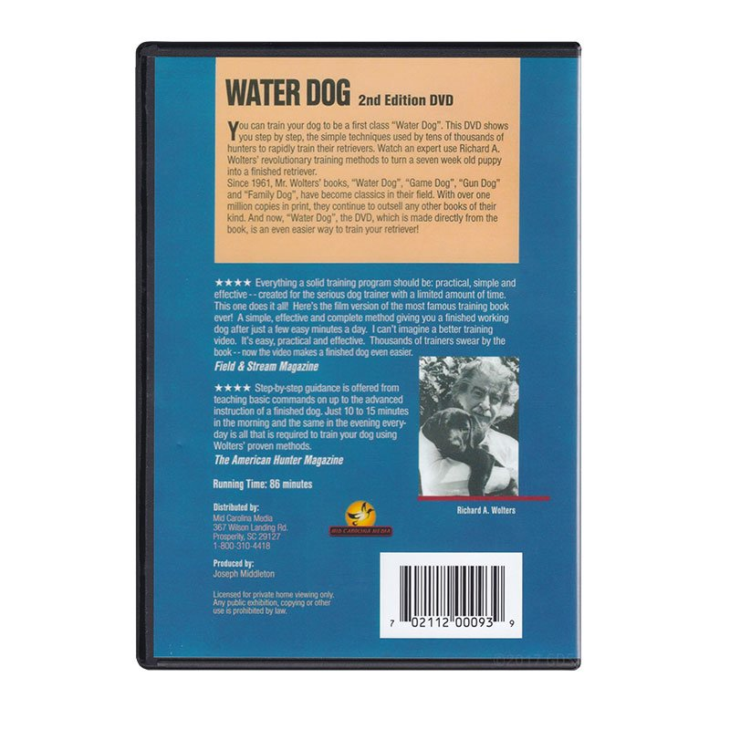 Water Dog DVD back