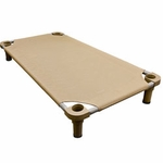 shop X-Large 52 in. x 30 in. Rectangle Premium Weave Dog Cot by 4Legs4Pets