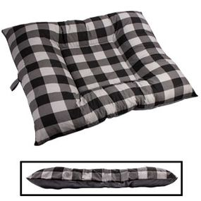 shop X-LARGE Bizzy Beds® Dog Bed -- Buffalo Black / Gray Two-Tone