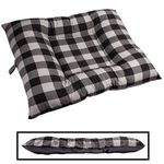 X-LARGE Bizzy Beds® Dog Bed -- Buffalo Black / Gray Two-Tone