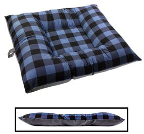 shop X-LARGE Bizzy Beds™ Dog Bed -- Buffalo Blue / Gray Two-Tone