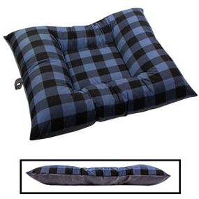 shop X-LARGE Bizzy Beds® Dog Bed -- Buffalo Blue / Gray Two-Tone