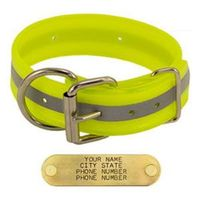 shop YELLOW 1-1/2 in. Beaded Reflective D-End Dog Collar