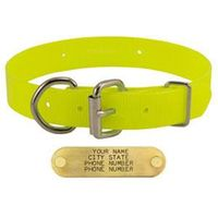shop YELLOW 1 in. Day Glow D-End Collar