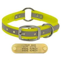 shop YELLOW 1 in. Reflective Center Ring Collar