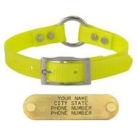 shop YELLOW 3/4 in. Center Ring Day Glow Collar