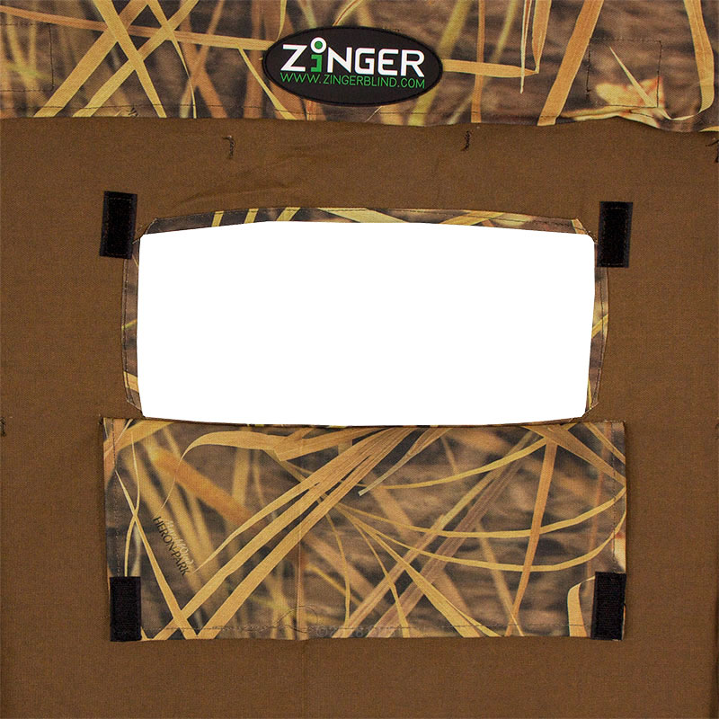 ZingerBlind 5 Panel Holding Blind Flap Open